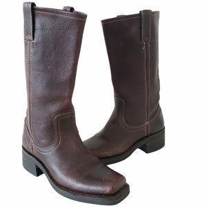 Frye Campus 14L boots vibram sole brown size 6